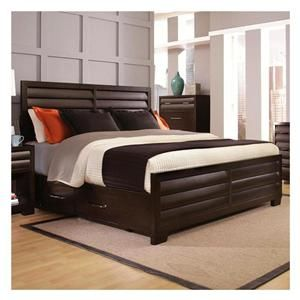 Tangerine King Bed in Sable | Nebraska Furniture Mart