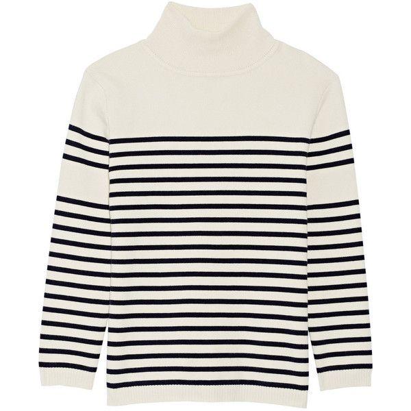 La Ligne Striped stretch-cotton turtleneck sweater ($165) ❤ liked ...