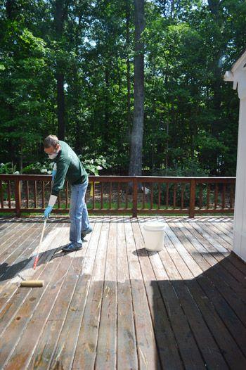 How To Strip Clean A Deck For Stain Decks Backyard Deck