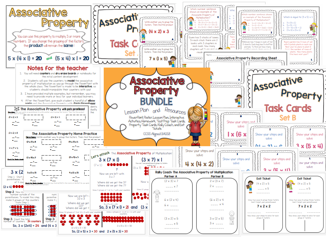 Associative Property Of Multiplication Lesson Plan And Resources Ccss 3 Oa 5