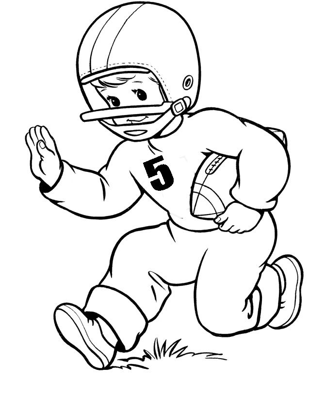 Football Player Number Five Coloring Pages | Autumn Coloring Pages ...