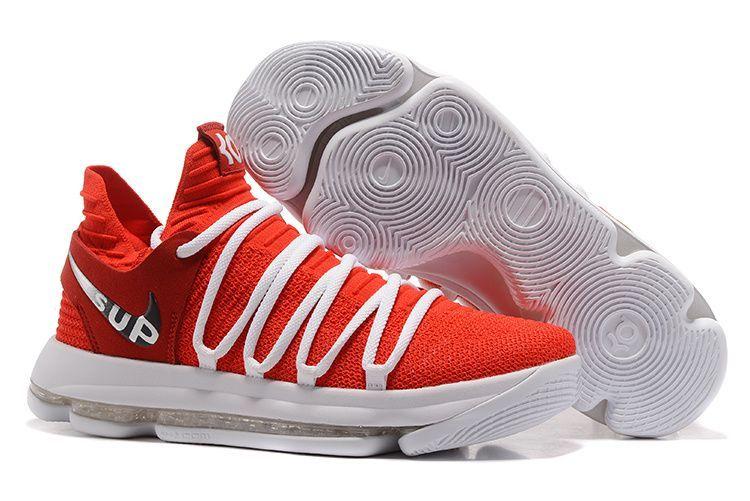 Nehmen Billig Schuhe Rot Billig Deal Nike Kd 10 University Basketballs