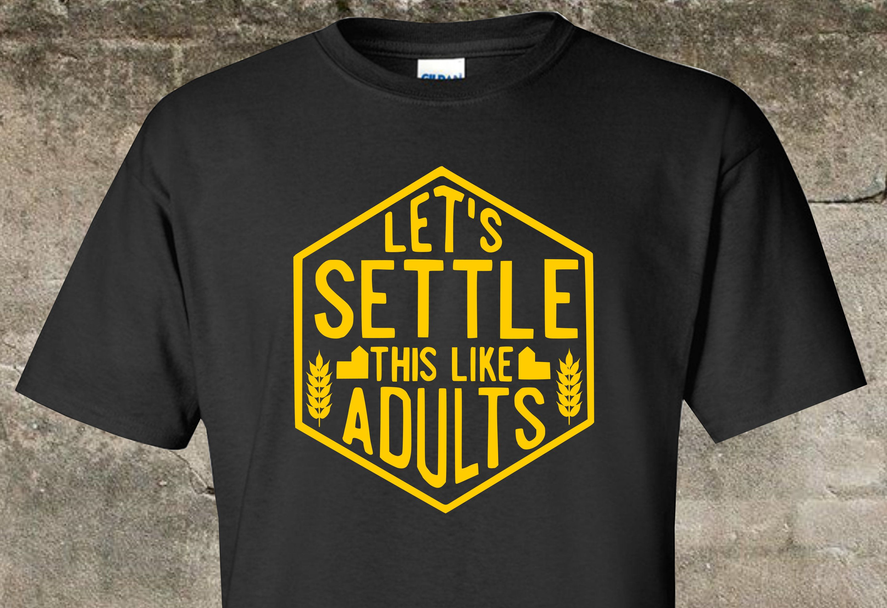 ca0e5457 Catan - Funny Shirt - Inspired by Settlers of Catan Game - Let's Settle  This Like Adults- Board Game Shirt by FireAntTees on Etsy