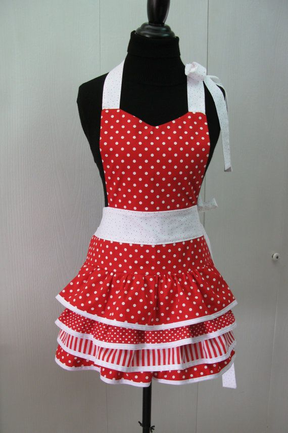 apron Sexy red