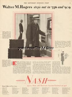 1929 A. Nash Co. Mens Clothes Vintage Style Fashion - Walter Rogers Fashion Ad