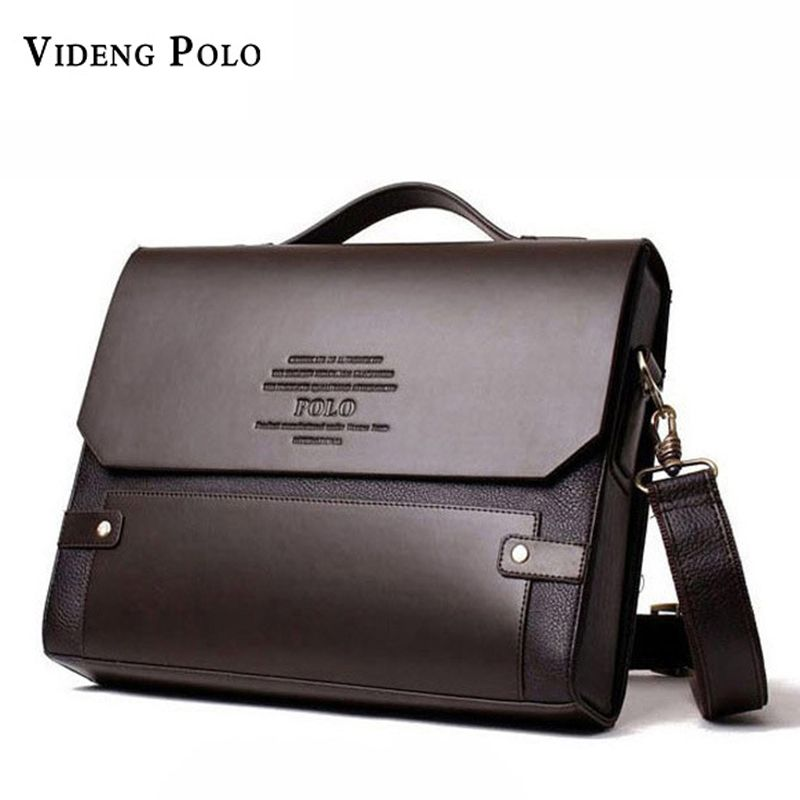 VIDENG POLO Fashion Rivet Leather Messenger Bags For Men Already Set Bag  Business Men Briefcase Bag Hard Brand Leather Briefcase abb700eb4f647