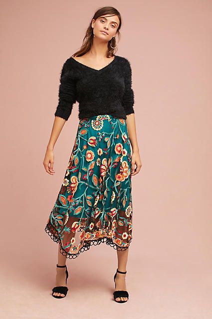31694572f Eva Franco Soleil Floral Skirt | Threads and Accessories | Skirts ...