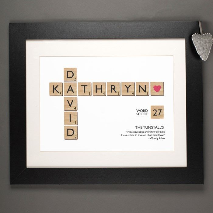 Wedding Gift Ideas For Young Couples: Personalised Letter Tiles Print
