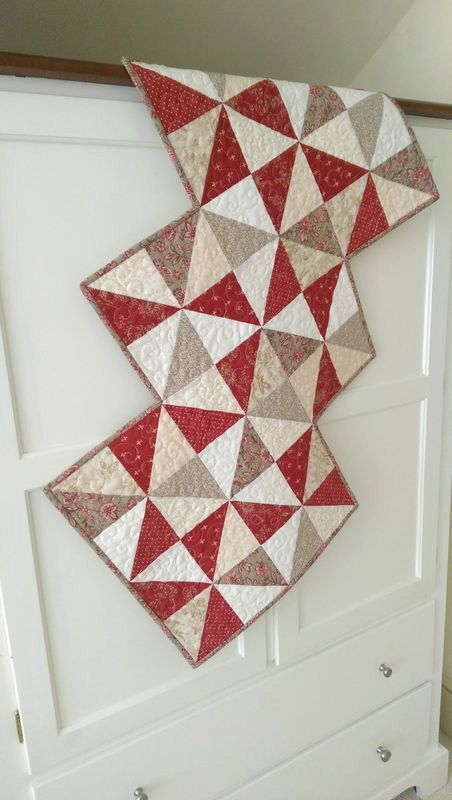 Valentine Scrap Charm Pack Table Runner Wall Hanging PDF Quilt Pattern  Primitive Americana Fat Quarter Modern