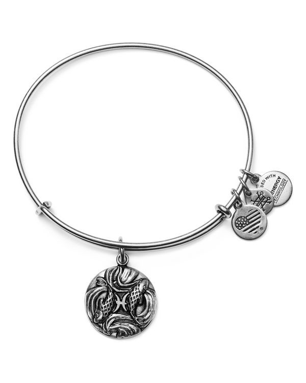 Alex And Ani Pisces Expandable Wire Bangle Made In Usa 2 25 Diameter No