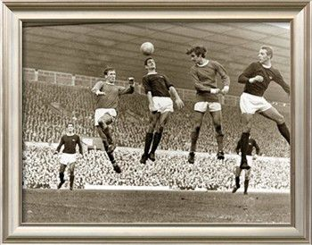 Manchester United vs. Arsenal, Football Match at Old Trafford, October 1967 Photographic Print at Art.com