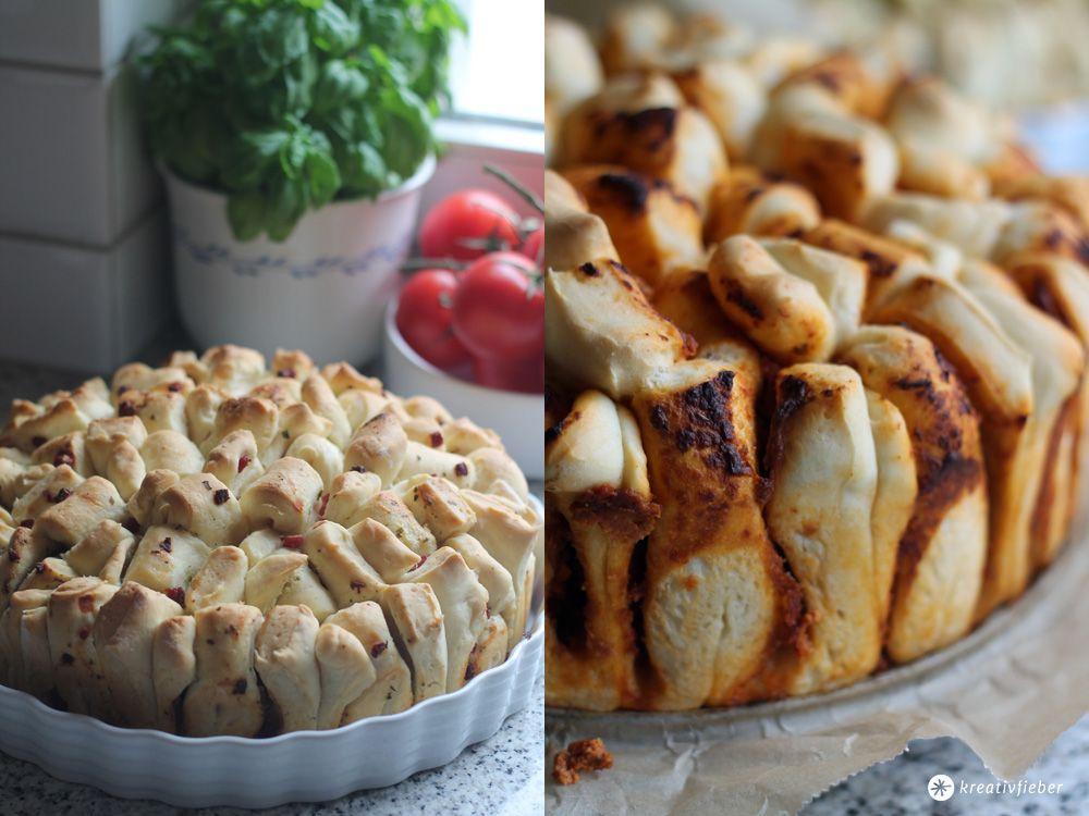 Zupfbrot mit drei Ideen für Füllungen - Partyfood und Snacks