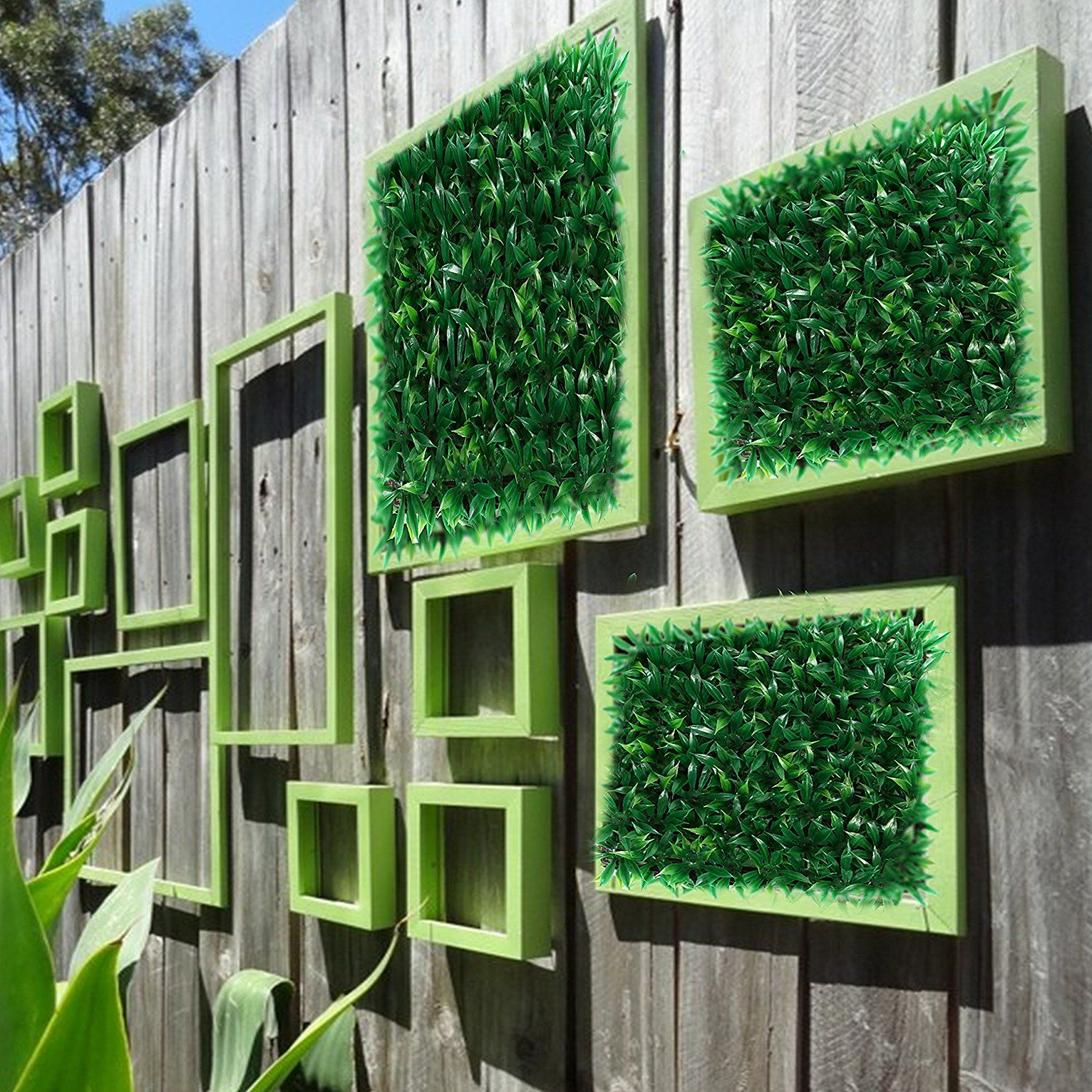 set of 4 artificial greenery hedge panels 10 x 10 size on interior using artificial boxwood panels with flowers id=69409