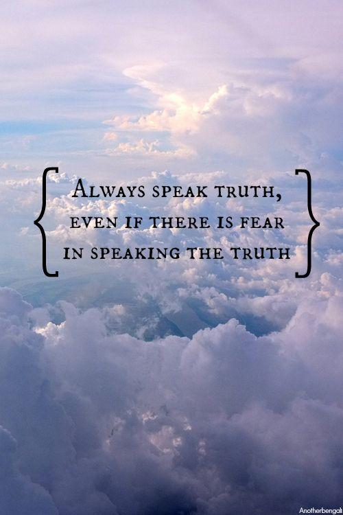 Speak the truth | Islamic quotes, Islam, Quotes