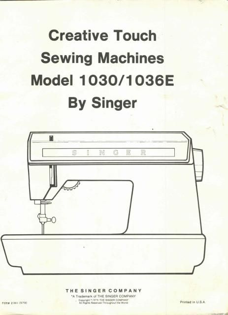 singer 1030 1036e sewing machine service manual sewing machine rh pinterest com Repair Manuals Repair Manuals