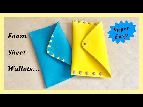 Easy Foam Sheet Wallet. DIY. Travel Wallet
