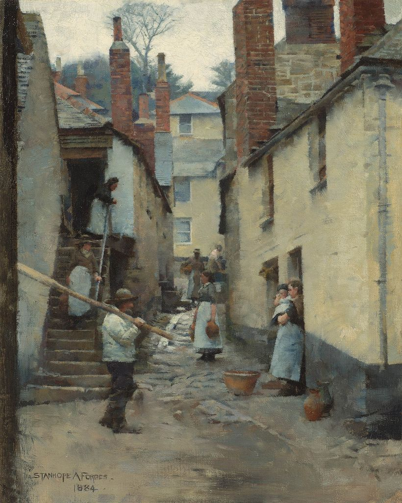 Stanhope Alexander Forbes Old Newlyn [1884] Famous art