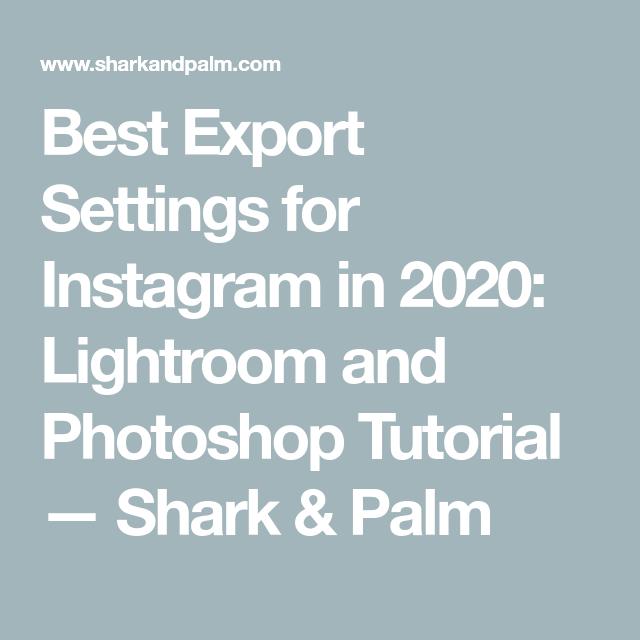 Export settings for instagram