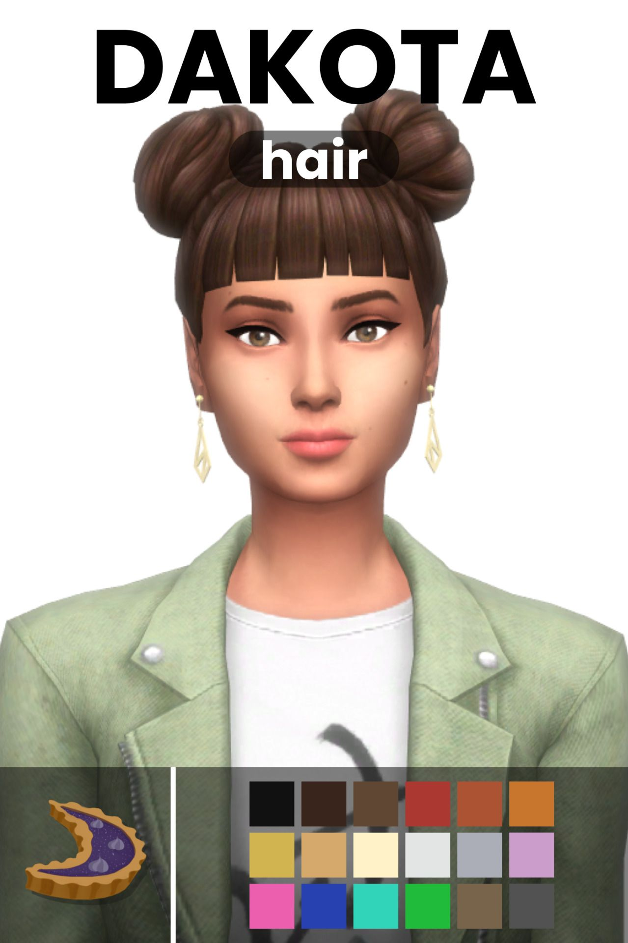 Dakota Hair By Moontaart In 2020 Sims Hair Sims 4 Characters Maxis Match
