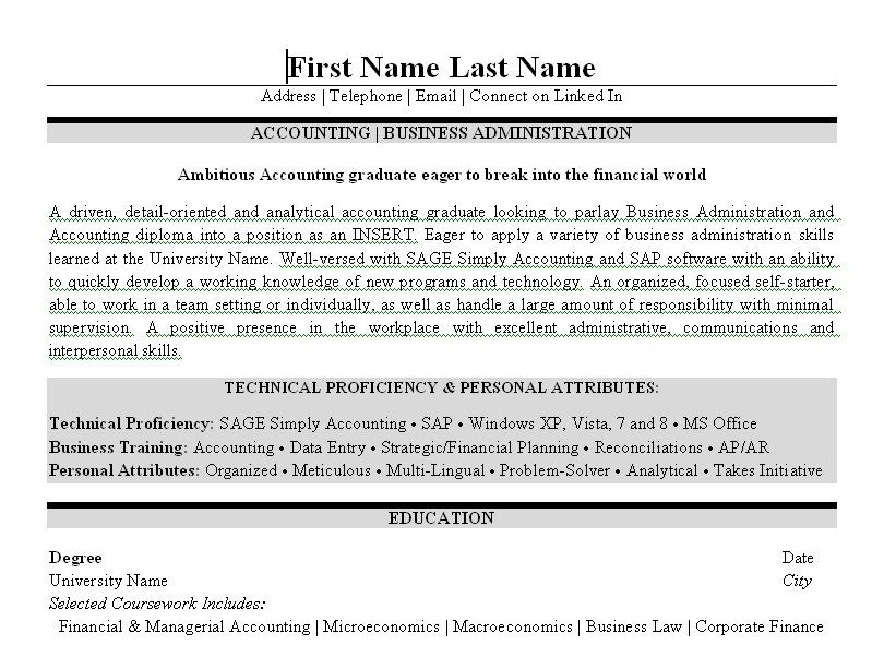 Click Here To Download This Business Administration Resume