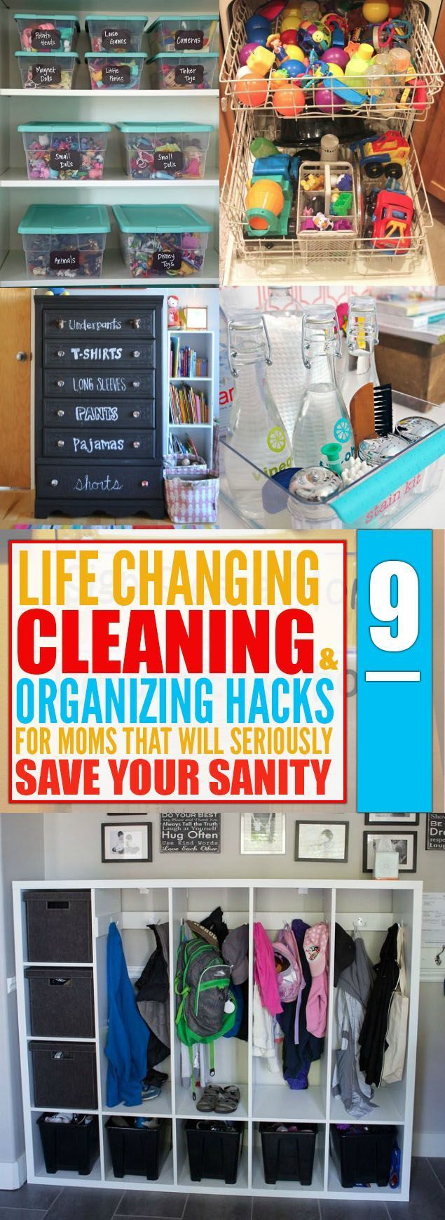 9 Cleaning  Organizing Hacks That Will Make Every Moms Life Easier 9 Cleaning  Organizing Hacks That Will Make Every Moms Life Easier