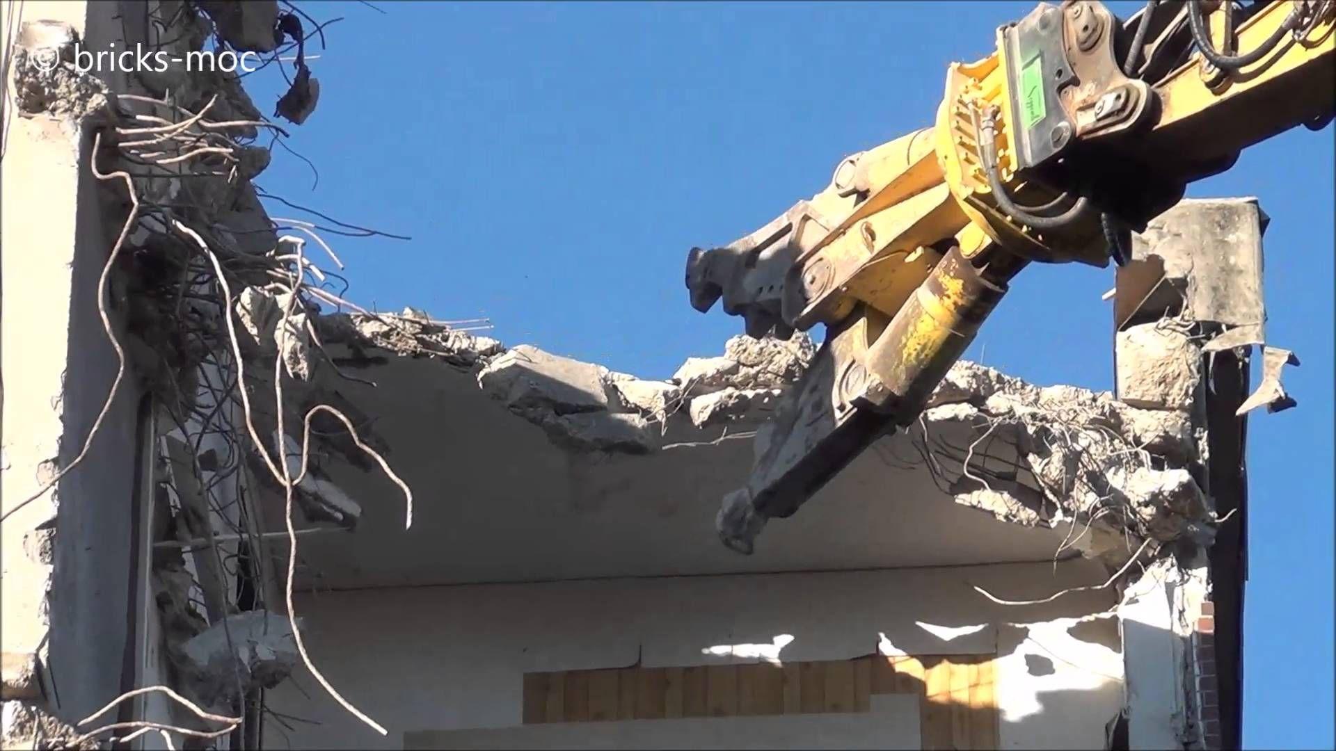 CATERPILLAR CAT345CL Excavator Longfront Hochhaus Abriss Duisburg Rheinh...