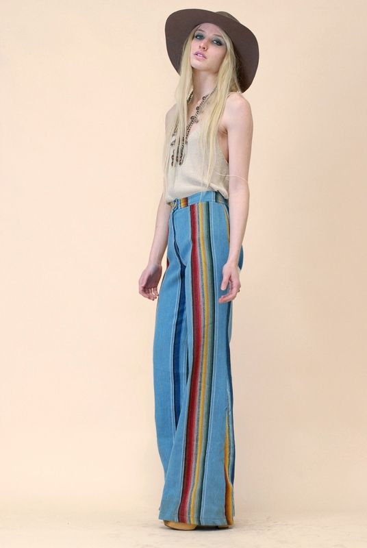 Serape Stripe Bell Bottoms