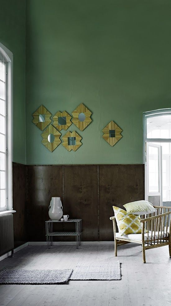 green walls on the blog today... www.homeanddelicious.com