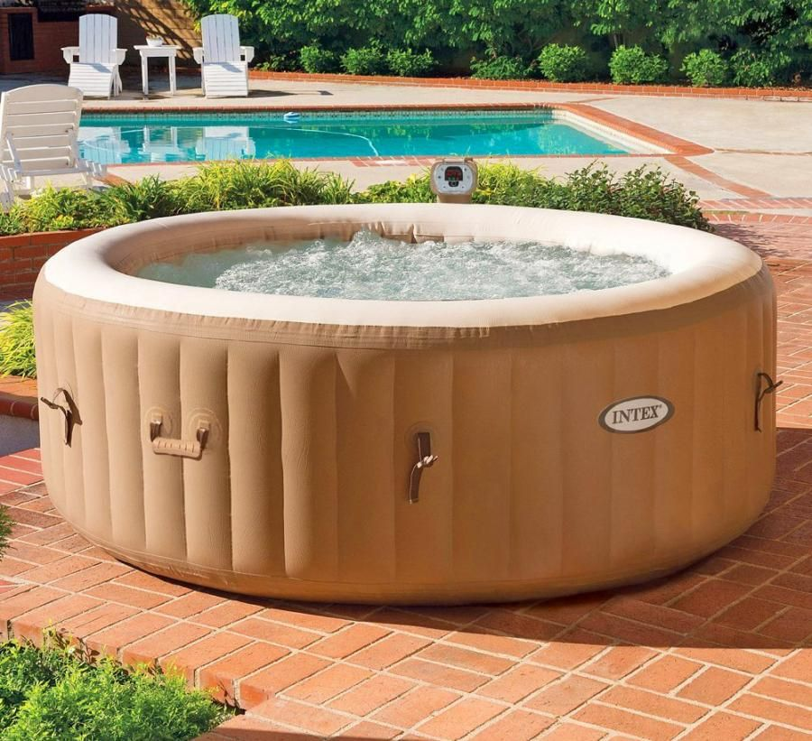 Inflatable Hot Tub Sets Up In Just 20 Minutes Inflatable Hot Tubs Portable Hot Tub Portable Spa