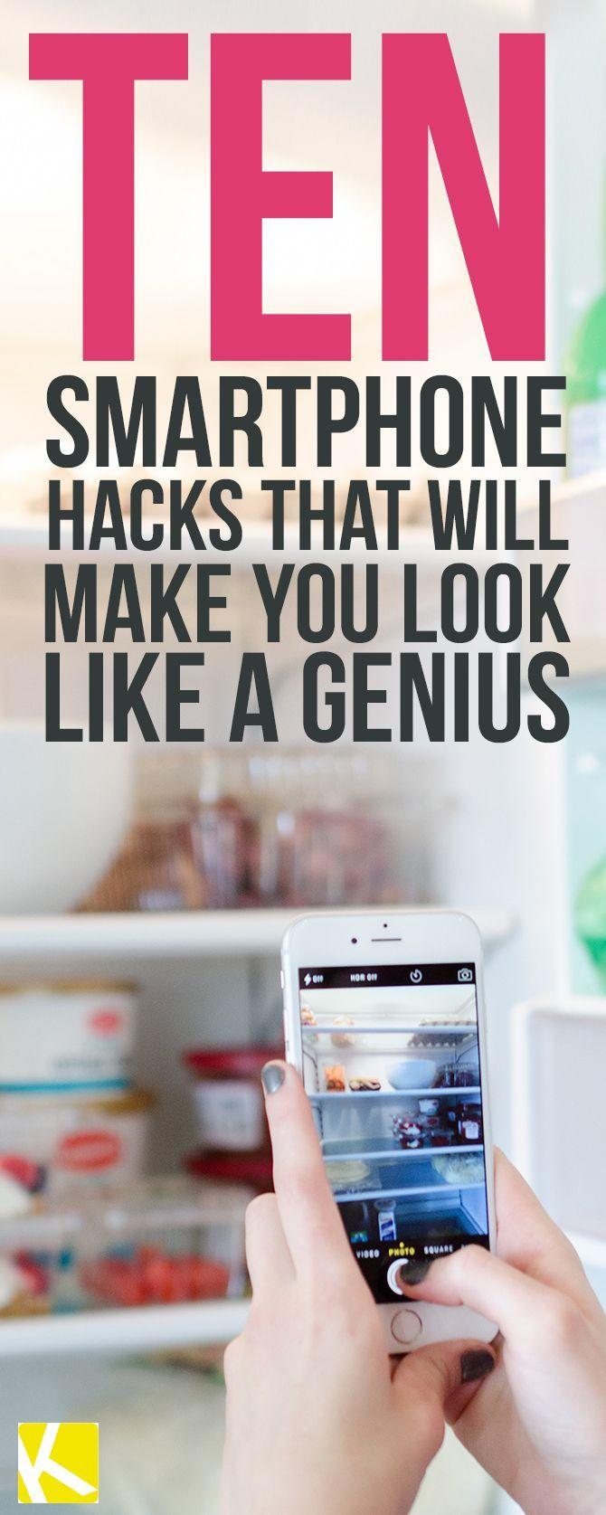 10 genius smartphone hacks that will change your life hacks life hacks und praktisch. Black Bedroom Furniture Sets. Home Design Ideas
