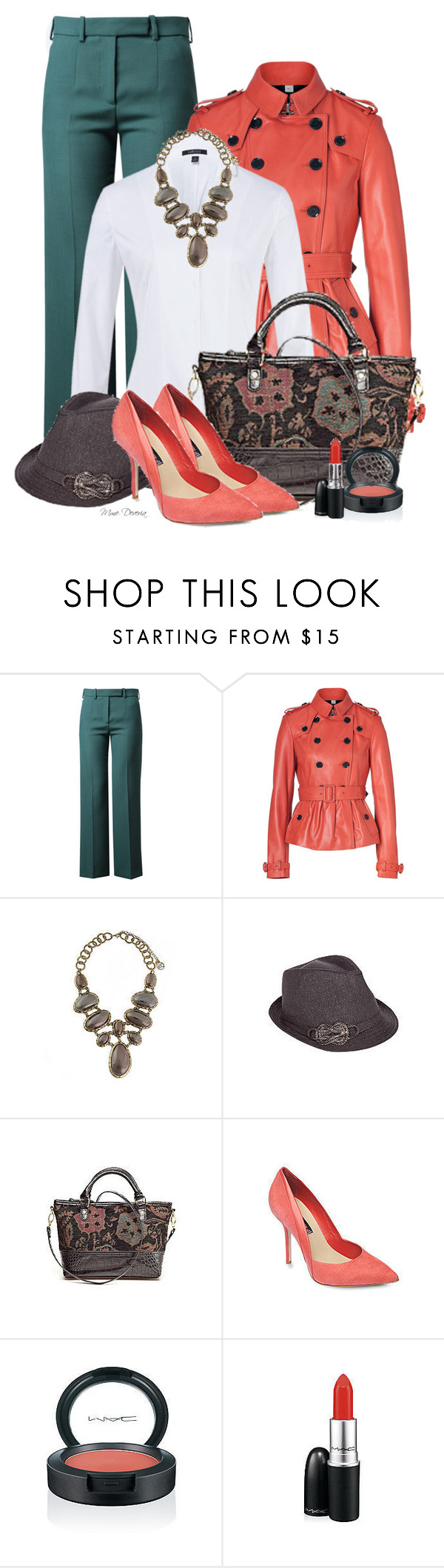 """Interview at the Art Gallery"" by madamedeveria ❤ liked on Polyvore featuring Carven, Burberry, Erica Lyons, Kim Rogers and MAC Cosmetics"