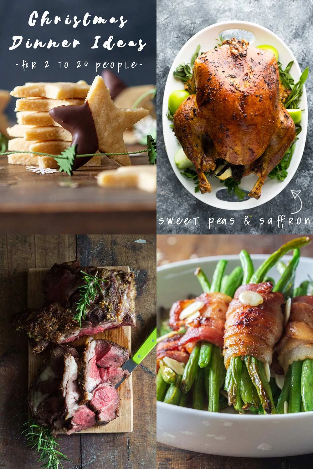 Make your life easy these holidays by cooking these delicious Christmas recipes that your family will love! Check out some Christmas Menu Ideas for 10-20 people, 4-10 people, and 2-4 people. #christmas #christmasrecipes #holidays #holidaysrecipes #christmasmenu #christmasdinner #dinnerideas#christmasdinner #dinnerideas