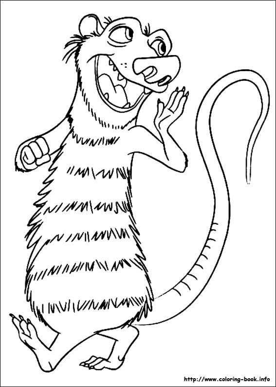 Ice Age Continental Drift coloring picture Coloring and