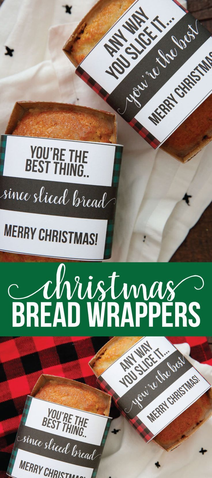 Printable Christmas Bread Wrappers