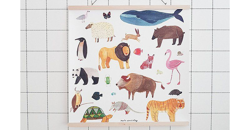 Adorn walls with beautiful Marta Abad Blay illustrated art prints #Animals, #Art, #Decor, #Nursery, #WallArt