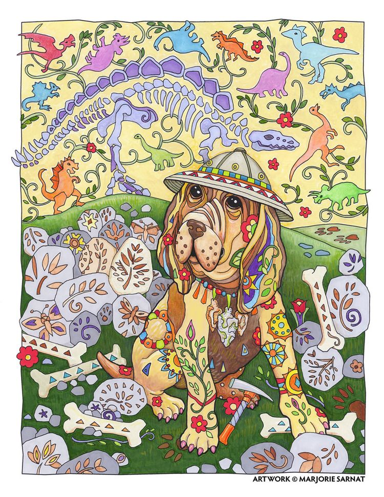 Creative Haven Dazzling Dogs Coloring Book By Marjorie Sarnat Paleontologist