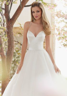 Beautiful Ss Satin And Tulle Ball Gown Wedding Dress Morilee