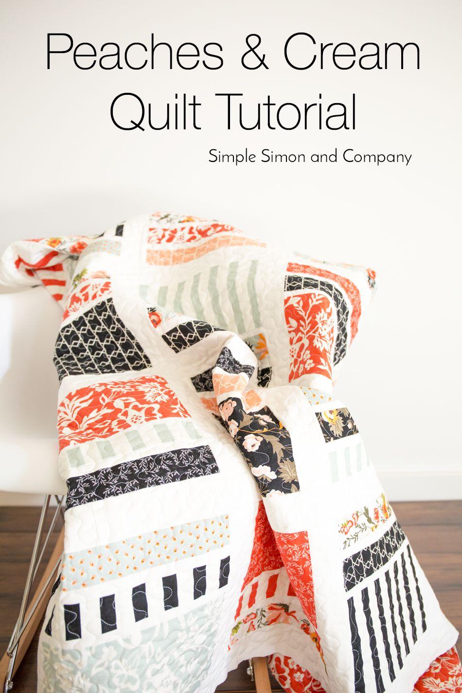 Peaches & Cream Quilt Tutorial   Sew Fun   Pinterest   Cobija ...
