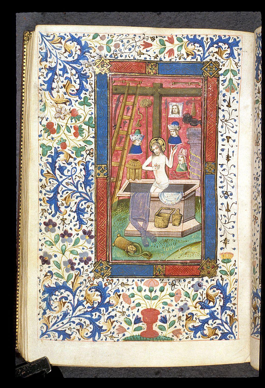 Entombment medieval art illuminated manuscript