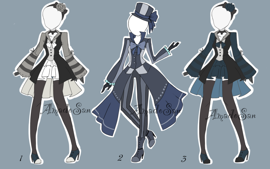 Victorian Outfit Batch Adoptable CLOSED by AS-Adoptables.deviantart.com on @DeviantArt