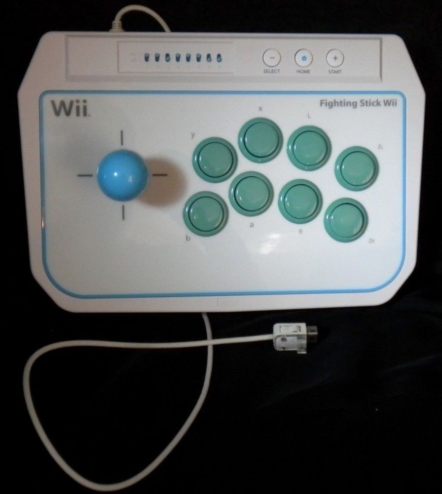 Nintendo Wii Official HORI Fighting Stick Controller White