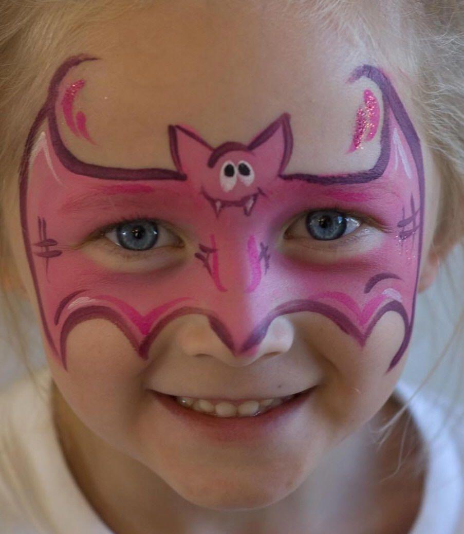 cute girl bat mask halloween schminken kinder kinderschminken und kinder schminken