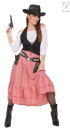 Mens Ladies Cowgirl Costume Fancy Dress Cowboys /& Indians Wild West Outfit