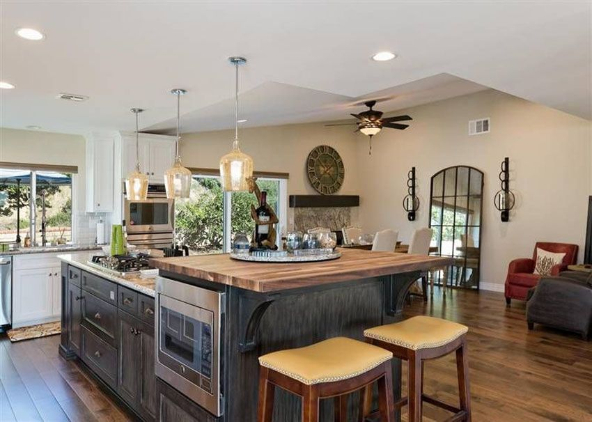 cheap kitchen islands with breakfast bar 37 gorgeous kitchen islands with breakfast bars pictures log home kitchens kitchen remodel 4184