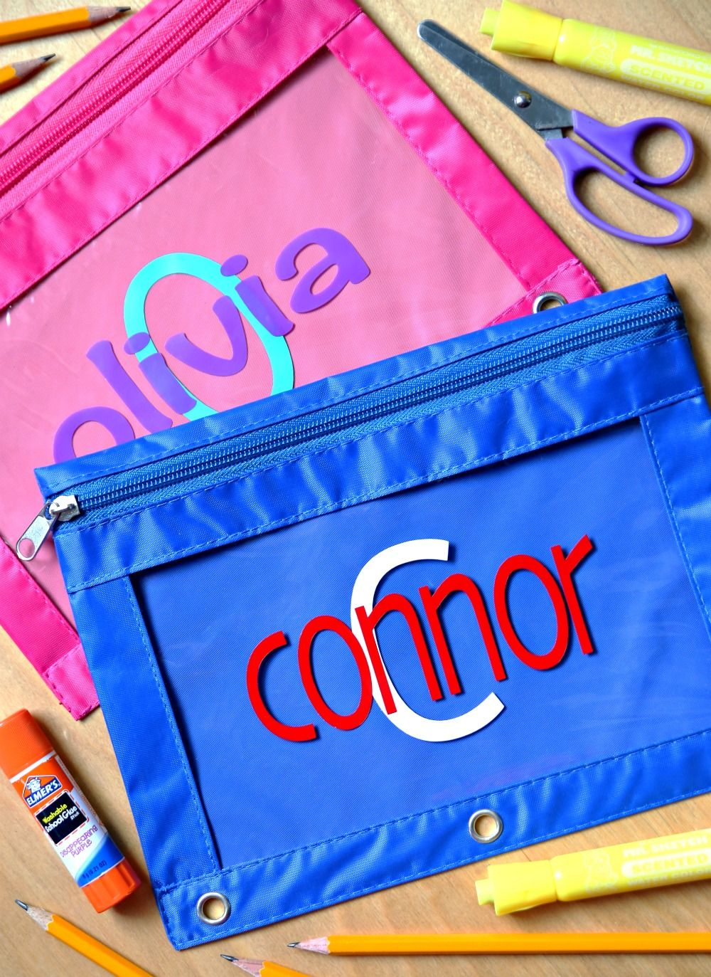 personalized pencil pouches easy back to school craft personalized