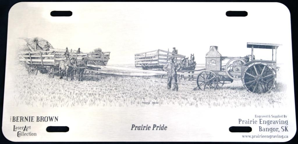 Bernie Brown S Prairie Pride Laser Engraved Onto A Stainless Steel License Plate And Supplied By Engraving