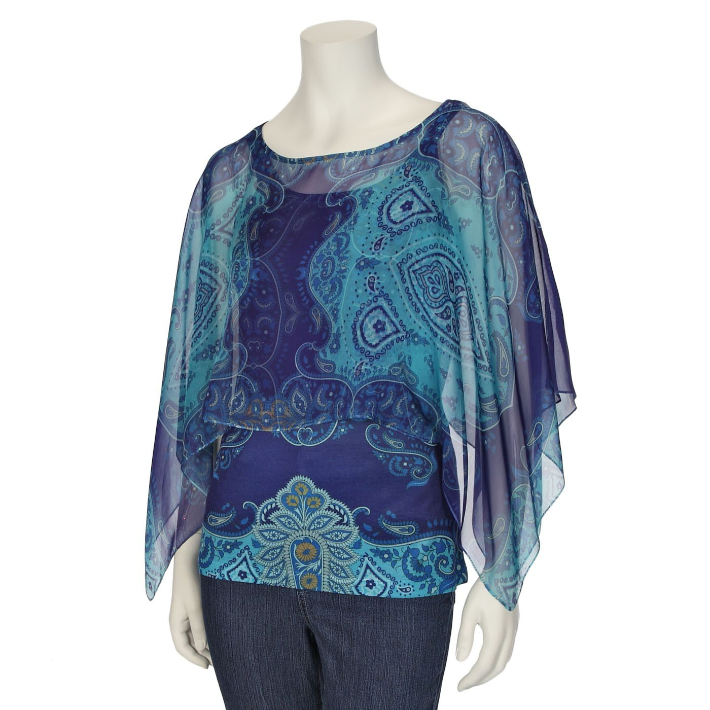 Live & Let Live by One World Womens Chiffon Overlay with Tank | Shopko.com
