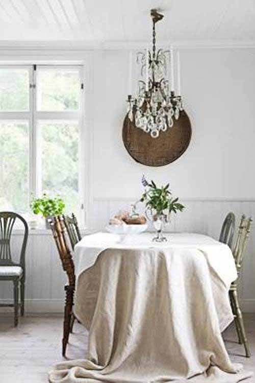 Swedish home - #dining #white