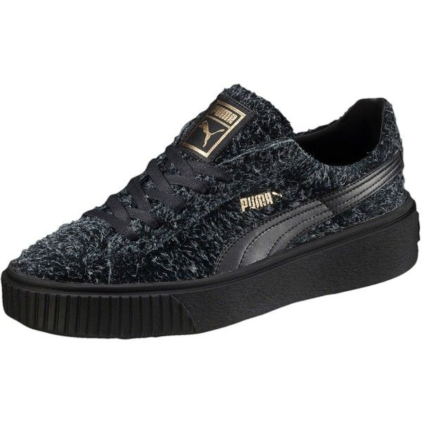 Puma Suede Platform Elemental Women's Sneakers ($100) ❤ liked on Polyvore  featuring shoes,