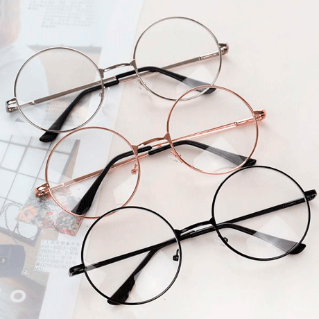 9e71b4822d8 TRANSPARENT CIRCLE ROUND METALLIC FRAME KOREAN CLEAR POTTER GLASSES ...